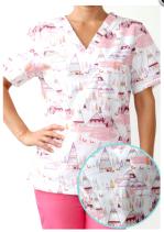bluză medicală cu piramide egipt